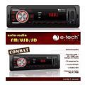 Auto Radio Mp3 Automotivo E-tech Combat Usb Sd Aux